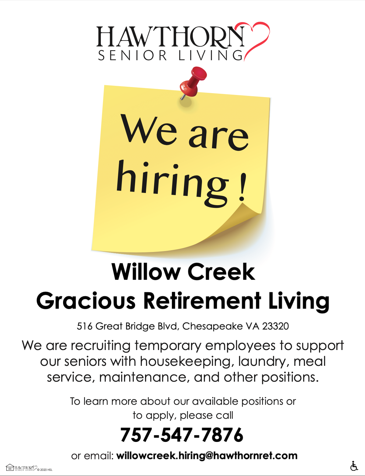Willow Creek Hiring